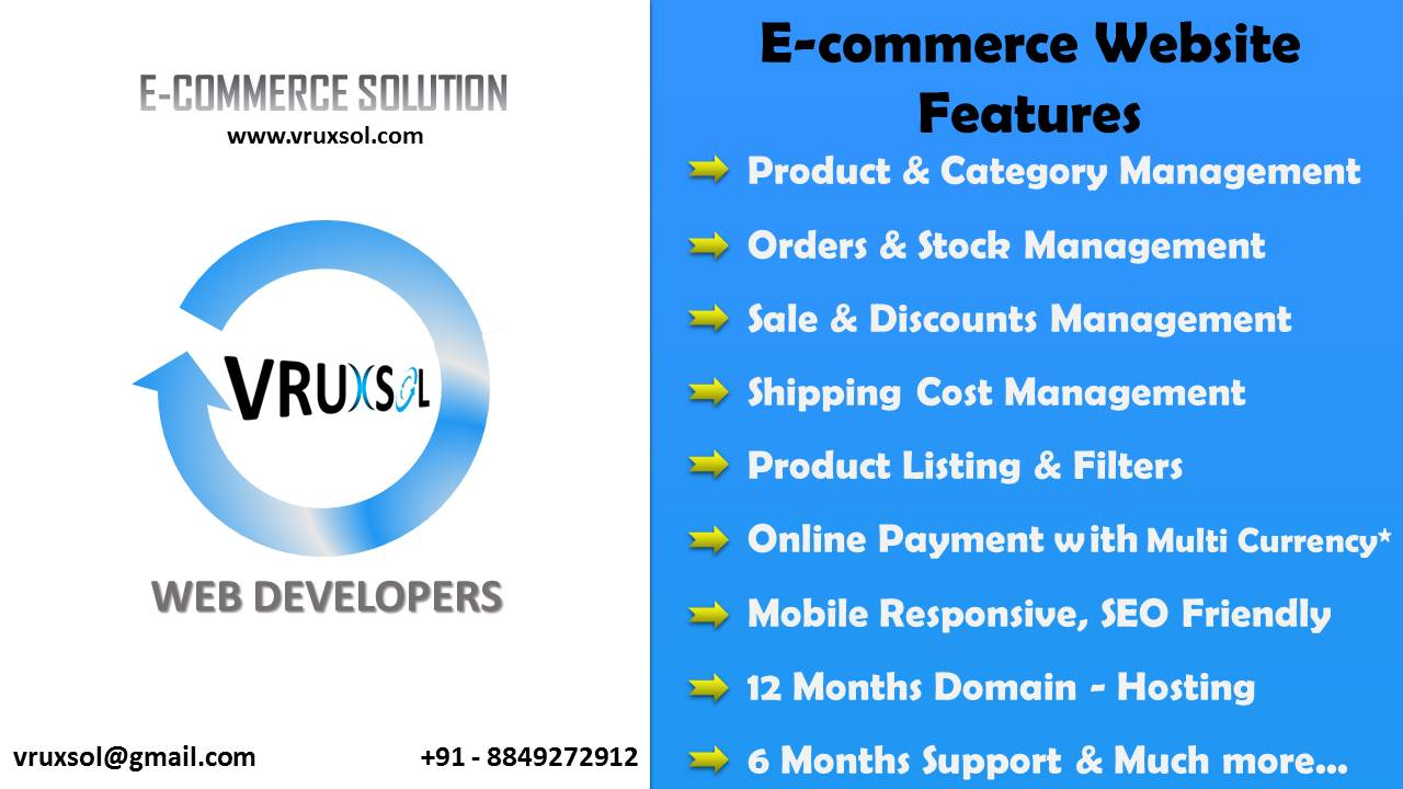 Vruxsol ecommerce website development